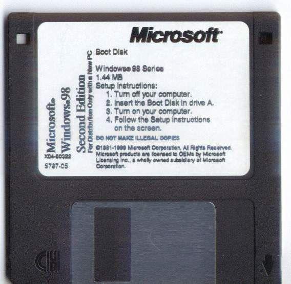 Windows 98se boot dick