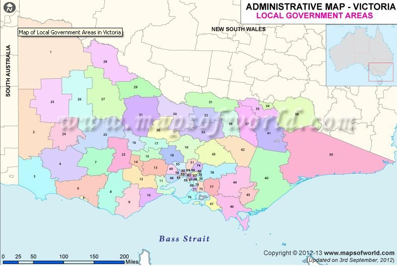 Map of Local Government Areas in Victoria New Maps Pinterest