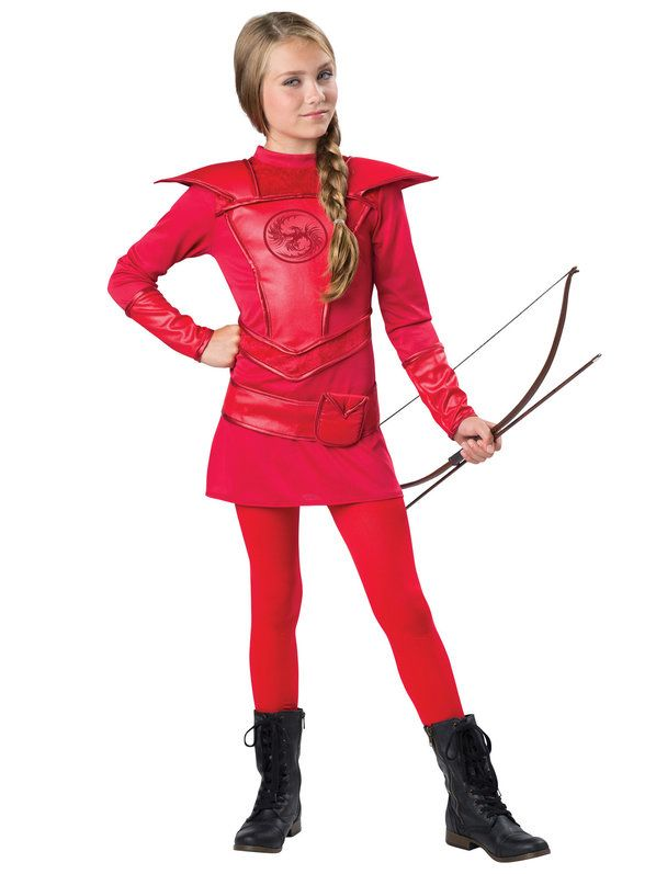 popular tween girls red warrior huntress costume at a great price shop anytime w daily promo codes offering girls costumes since - Popular Tween Halloween Costumes