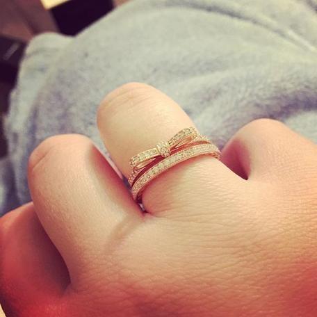 51ef4c5e1 ... inexpensive sparkling bow ring pandora rose clear cz pandora jewelry  8018c 54b56