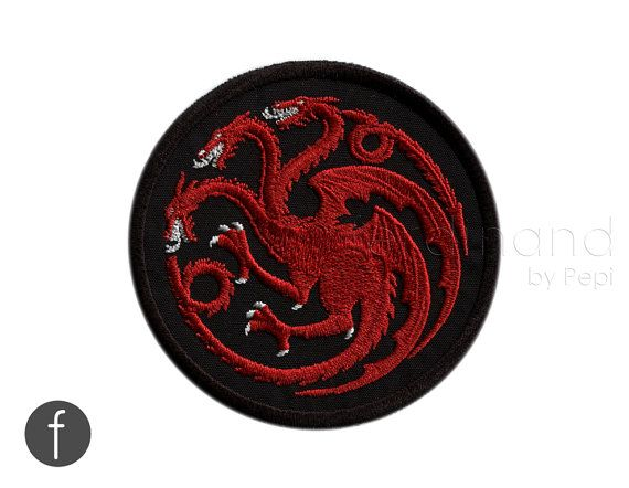 """Game of Thrones - House of Targaryen Embroidered Iron-on Patch 3.25"""""""