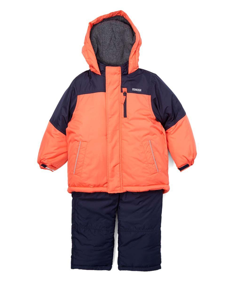 Orange & Black Snowsuit - Infant Toddler & Boys