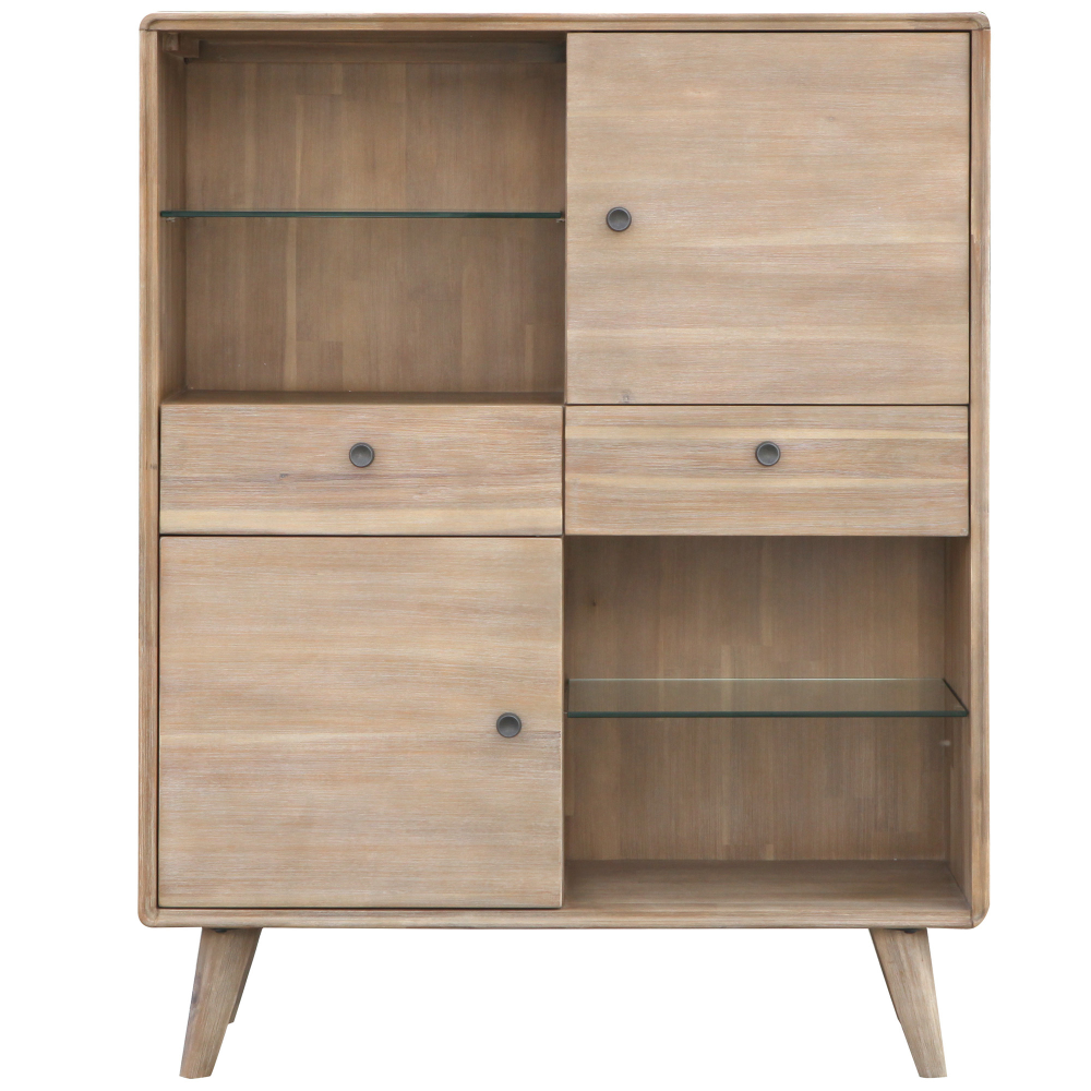 Light Timber Marco Acacia Display Unit Temple & Webster