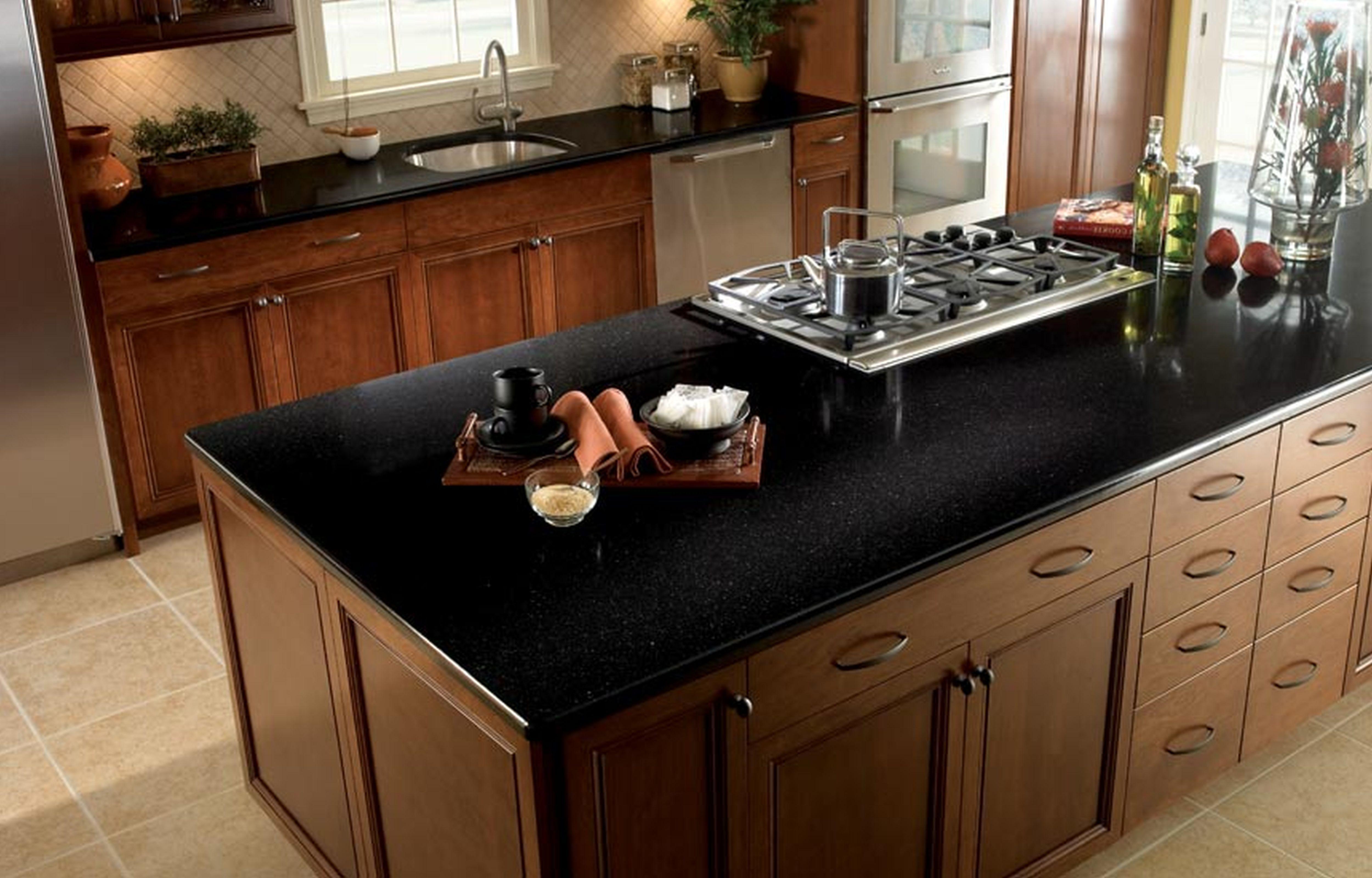 Tebas Black Quartz Kitchen Countertops Full Bull Nose Countertop Edge St Black Quartz Kitchen Countertops Quartz Kitchen Countertops Marble Countertops Kitchen
