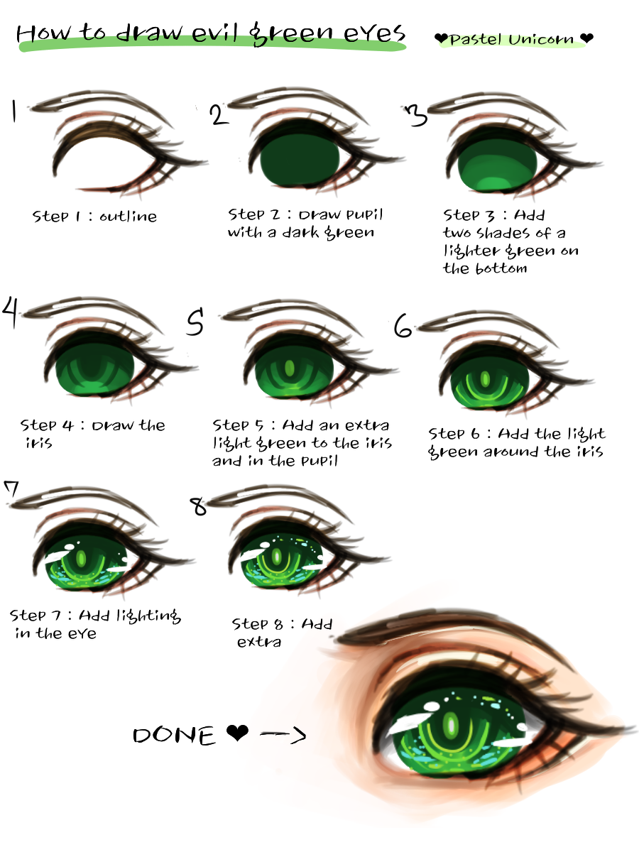 How to draw eyes/Pastel unicorn