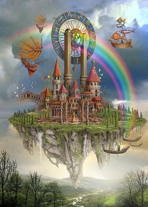 Tarot Town Art Print by MGL Meiklejohn Graphics Licensing