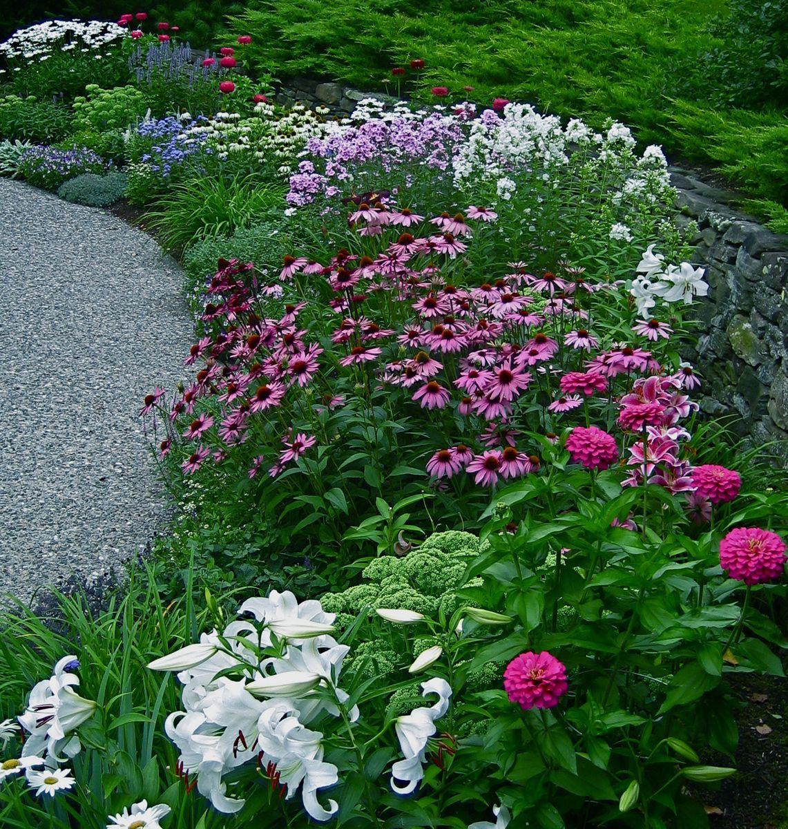 Flower Garden: Veronica's Garden In New Hampshire-click For More Photos