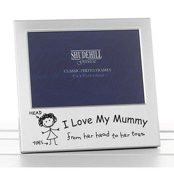 I Love My Mummy Photo Frame Mothers Day At Born Gifted Mother
