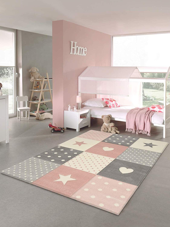 Tapis Chambre Enfant Etoiles Rose 160 X 230 Cm En 2020