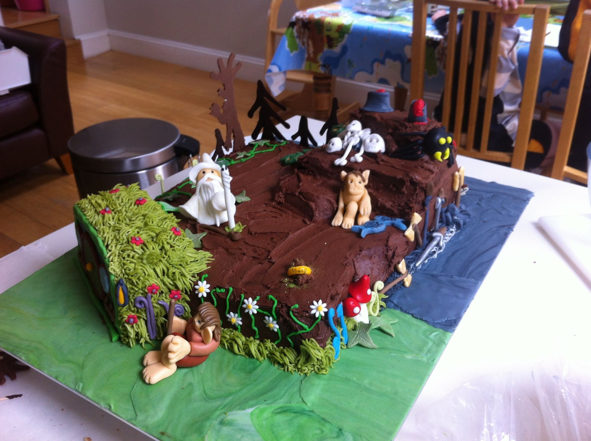 Hobbit cake   Hobbit cake, The hobbit, Cake
