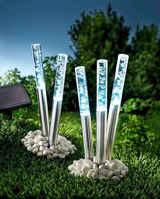 solar gartenstecker bubbles 5er set garten pinterest solar licht garten und gartenstecker. Black Bedroom Furniture Sets. Home Design Ideas