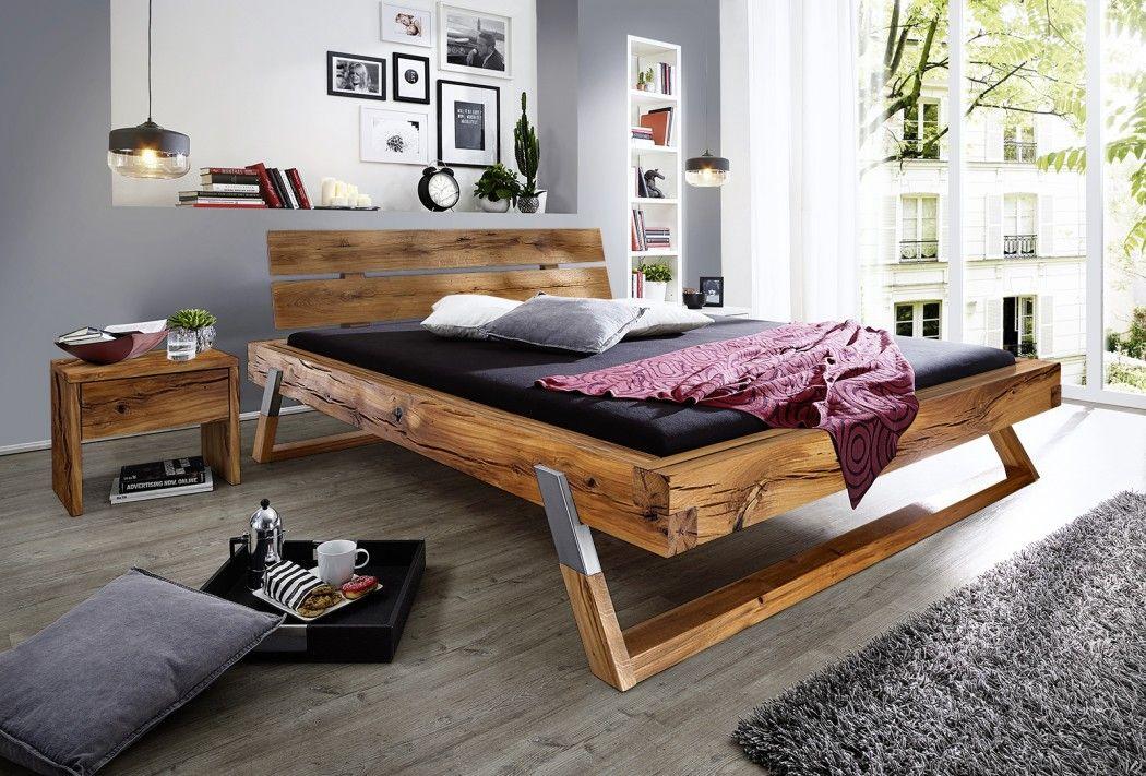 Balkenbett fichte  SAM® Balkenbett Holzbett Fichte eichefarbig 180 x 200 cm Bojan Auf ...