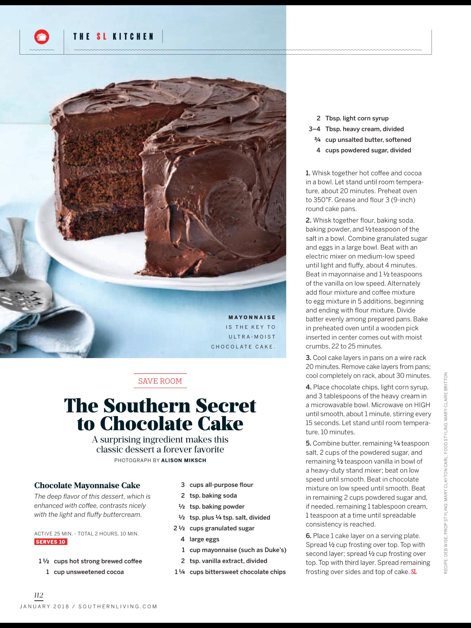 The Southern Secret To Chocolate Cake From Southern Living