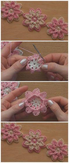 Very Easy Crochet Flower Tutorial – Learn to Crochet – Crochet Kingdom – schöner häkeln
