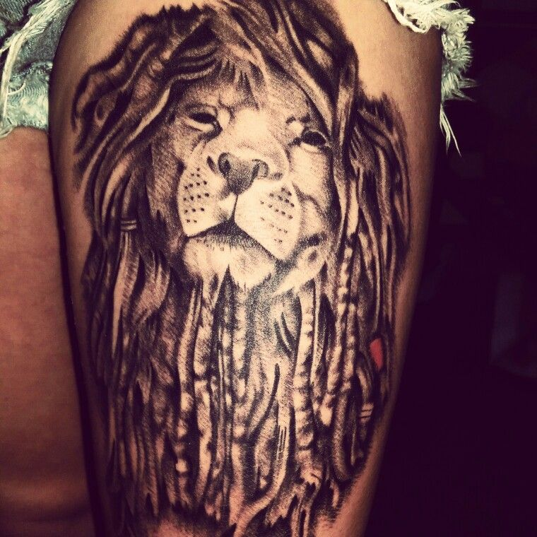 Lion With Dreads Tattoo Animales Pinterest Tattoos Lion