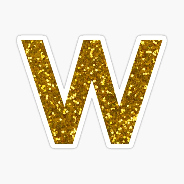 Letter W Glitter Stickers Glitter Stickers Glitter Letters Letter W