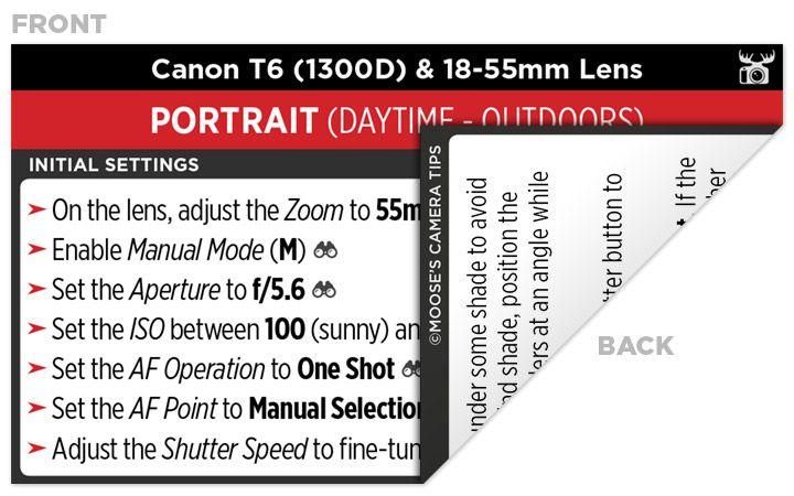 Sample Canon T6 (1300D) Cheat Sheet   Dslr   Camera nikon