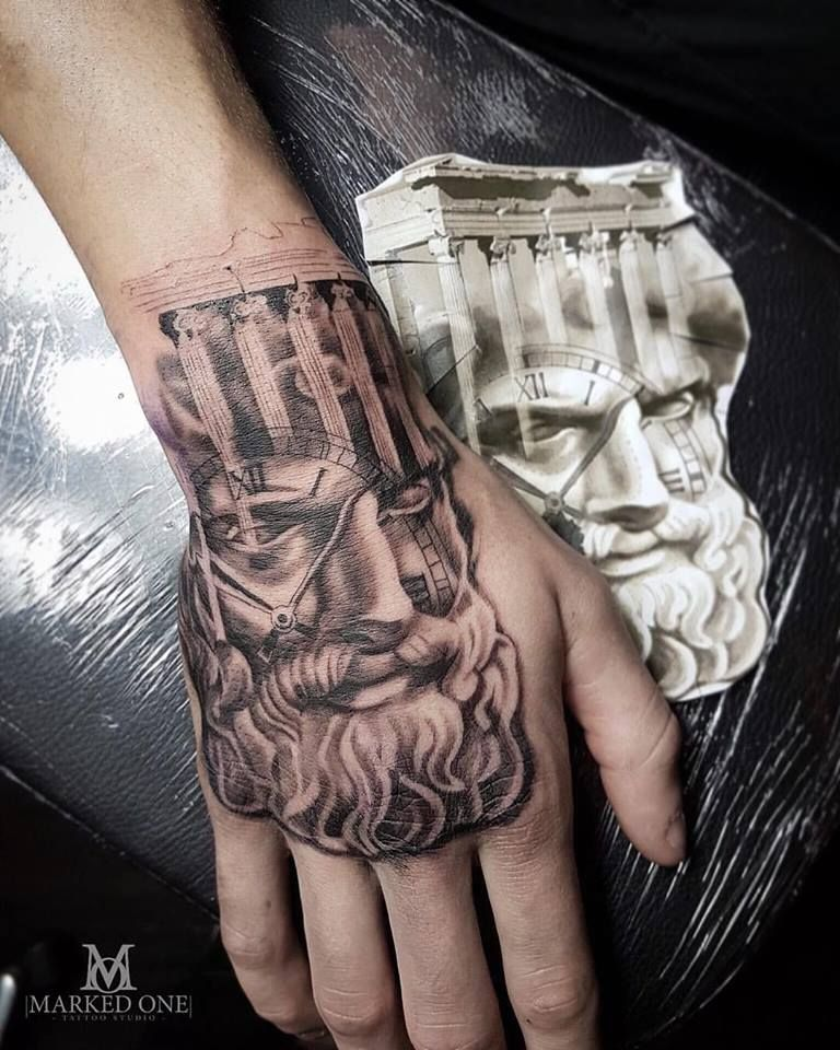 Hand Tattoo By Gav Guest At Marked One Tattoo Greek Mythology