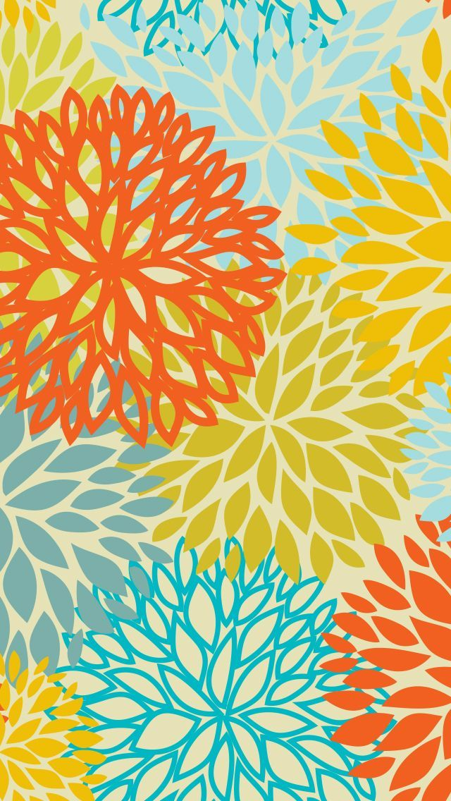 !!TAP AND GET THE FREE APP! PatternArt Colorful Girly Flowers HD iPhone 5 Wallpaper