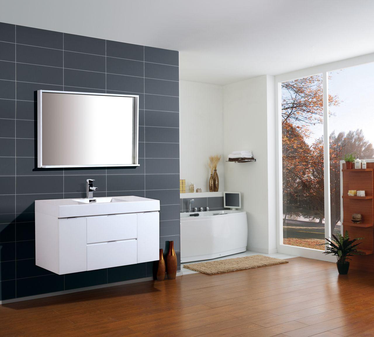 sink vanity yellow bathroom mirror countertop ensemble white nook