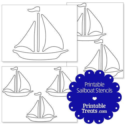 photograph about Sailboat Printable named Printable Sailboat Stencils versus
