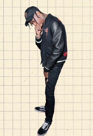 Travis Scott Effet Papillon Noir Hip Hop Hoodie à Capuche Sweat par AF