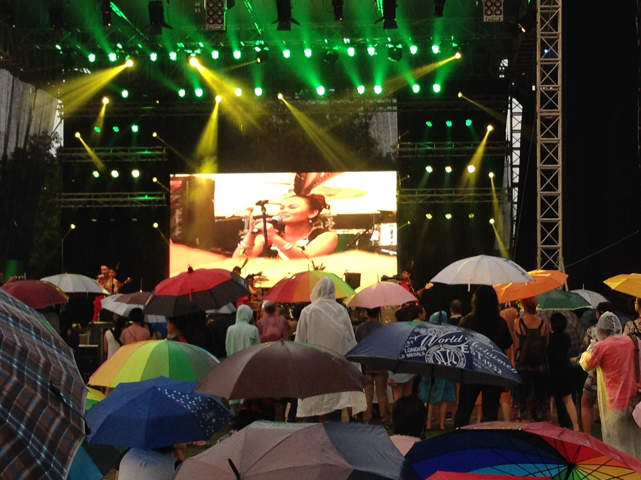 Evening in Penang. The Penang World Music Festival was fabulous - even if the weather wasn't quite what I had imagined.