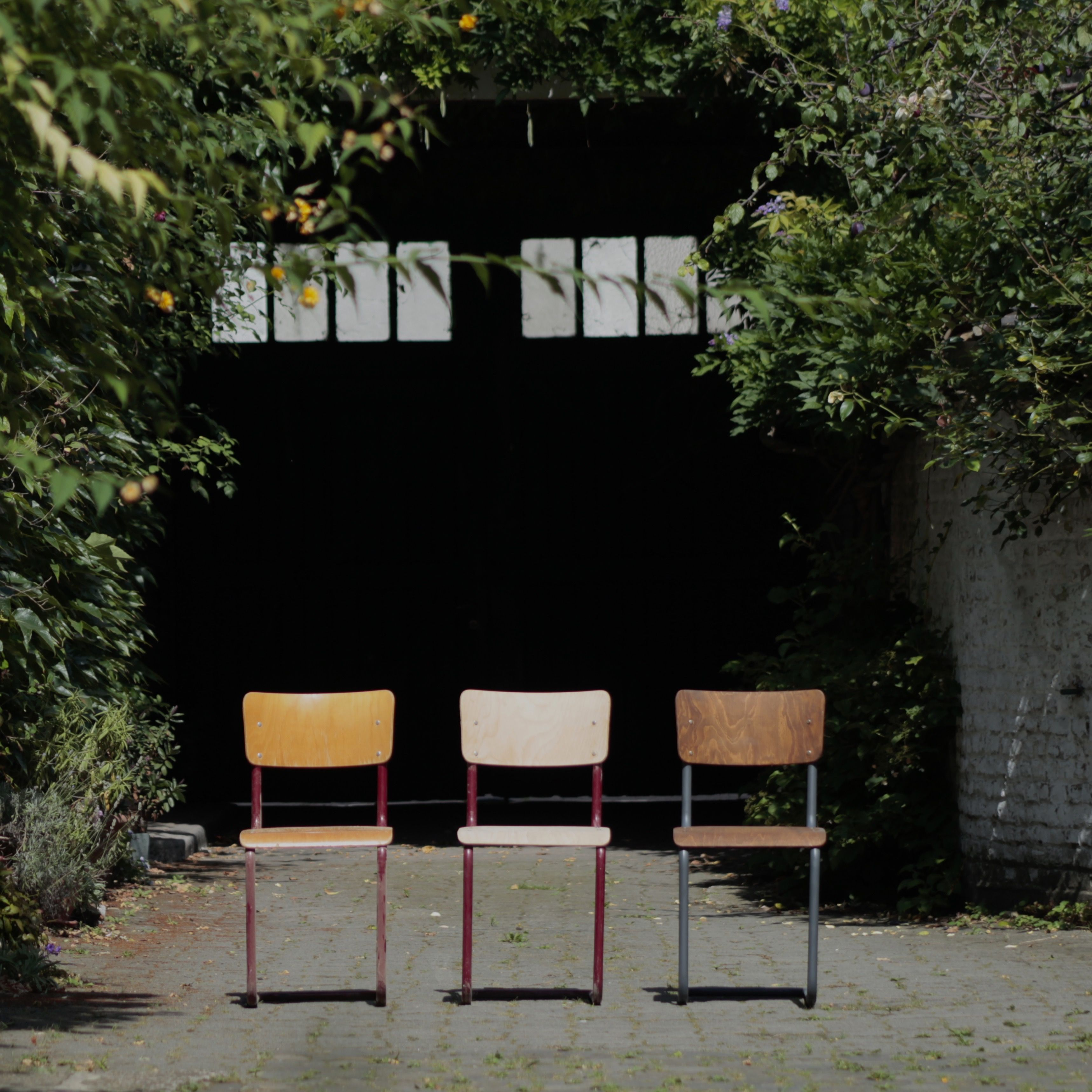 Vintage school chair in different state of renovation - Upcycling ...