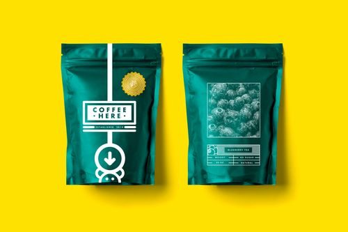 Coffee Packaging, by Lime Creative Studio for Coffee Here. 2.
