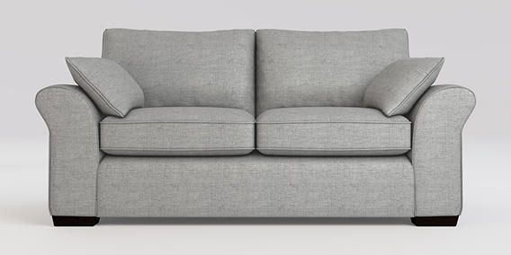Astounding Next Garda Sofa In Light Grey Textured Weave Fabric With Machost Co Dining Chair Design Ideas Machostcouk