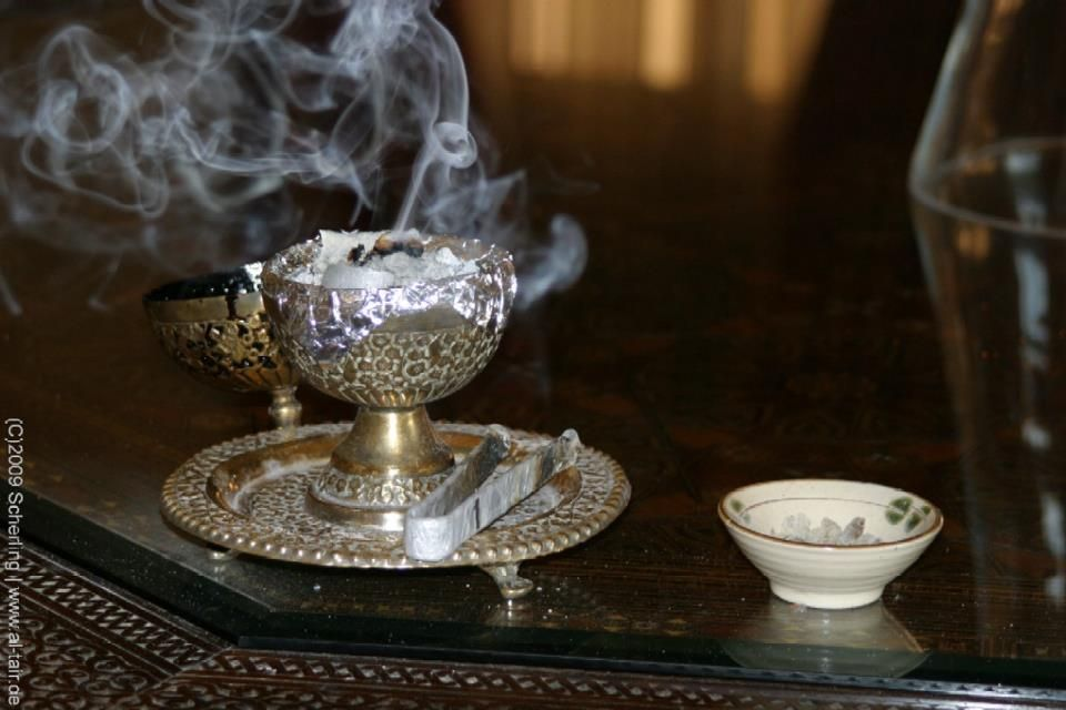 Frankincense ~ A recent study by Johns Hopkins University found that Frankincense smoke contains a chemical compound known as incensole acetate which is said to be a psychoactive drug that may be used to relieve depression and anxiety.    It is also said to aid in the healing of respiratory problems and is used as a relaxant during meditation.