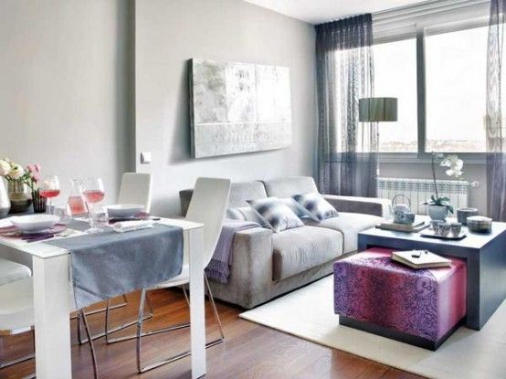 Decorating ideas for very small apartments and other interior chic stylish cozy apartment decoration also sqm aparment jorge juan pinterest pink accents square rh