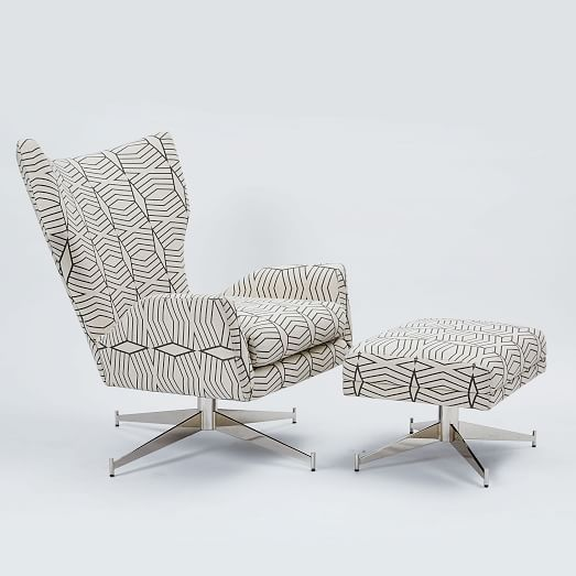 swivel arm chairs living room. Hemming Upholstered Swivel Arm Chair  Diamond Stripe Irongate Master Bedroom ChairsLiving Armchair Armchairs Living Rooms And Ottomans