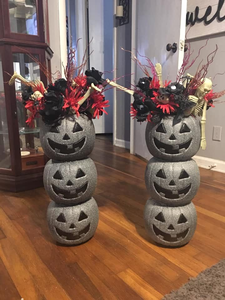 Plastic Pumpkin Stone Makeover - Crafty Morning