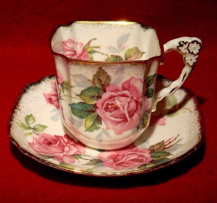 lovely rose tea cup and saucer porzellan geschir pinterest porzellan geschirr und. Black Bedroom Furniture Sets. Home Design Ideas