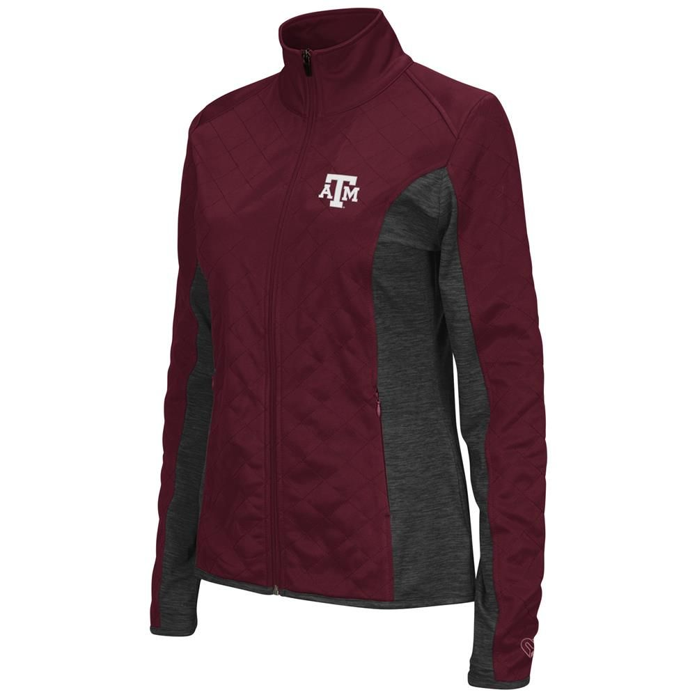 Texas A&M Aggies Ladies Jacket Quilted Full Zip Outerwear