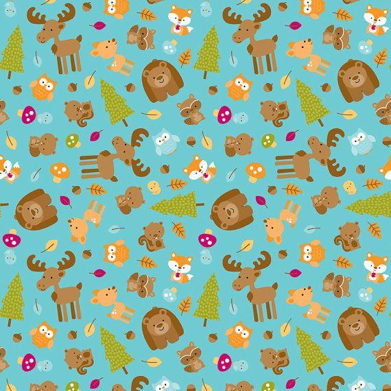 Moderne Tissu-Riley Blake Flanelle Tissu-Happy Camper-Animal