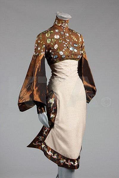 Photo of A floral lamé evening jacket, 1930s