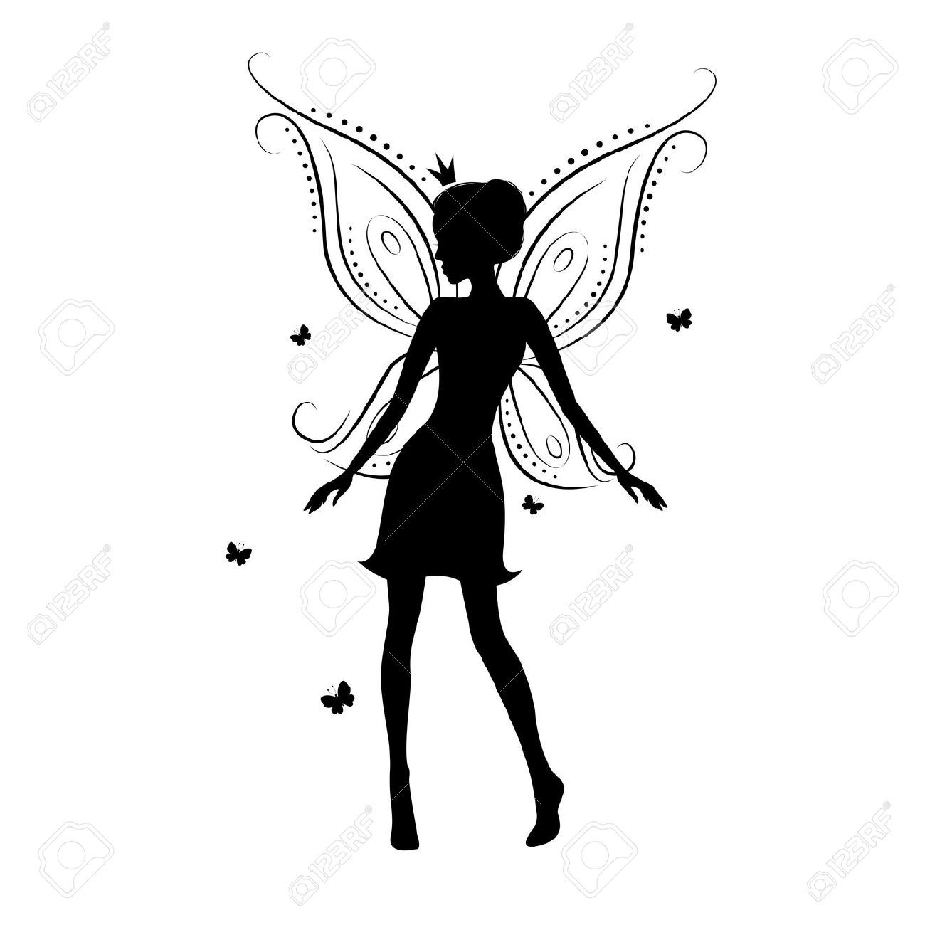 Pin By Kayla Fox On Fairy Silhouettes Vectors Clipart