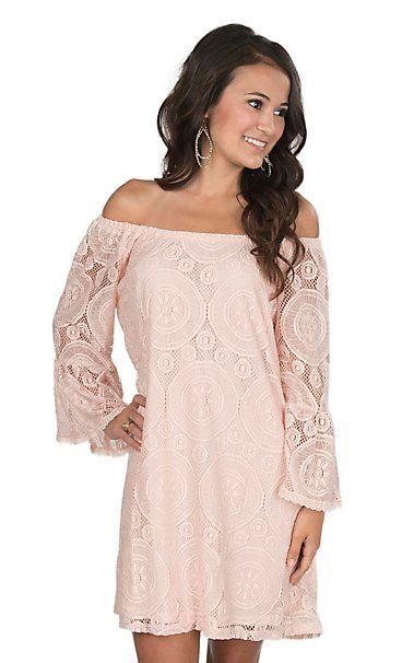 538cc87aa92413 Flying Tomato Women's Blush Lace Dress | Cavender's | Women's Skirts ...