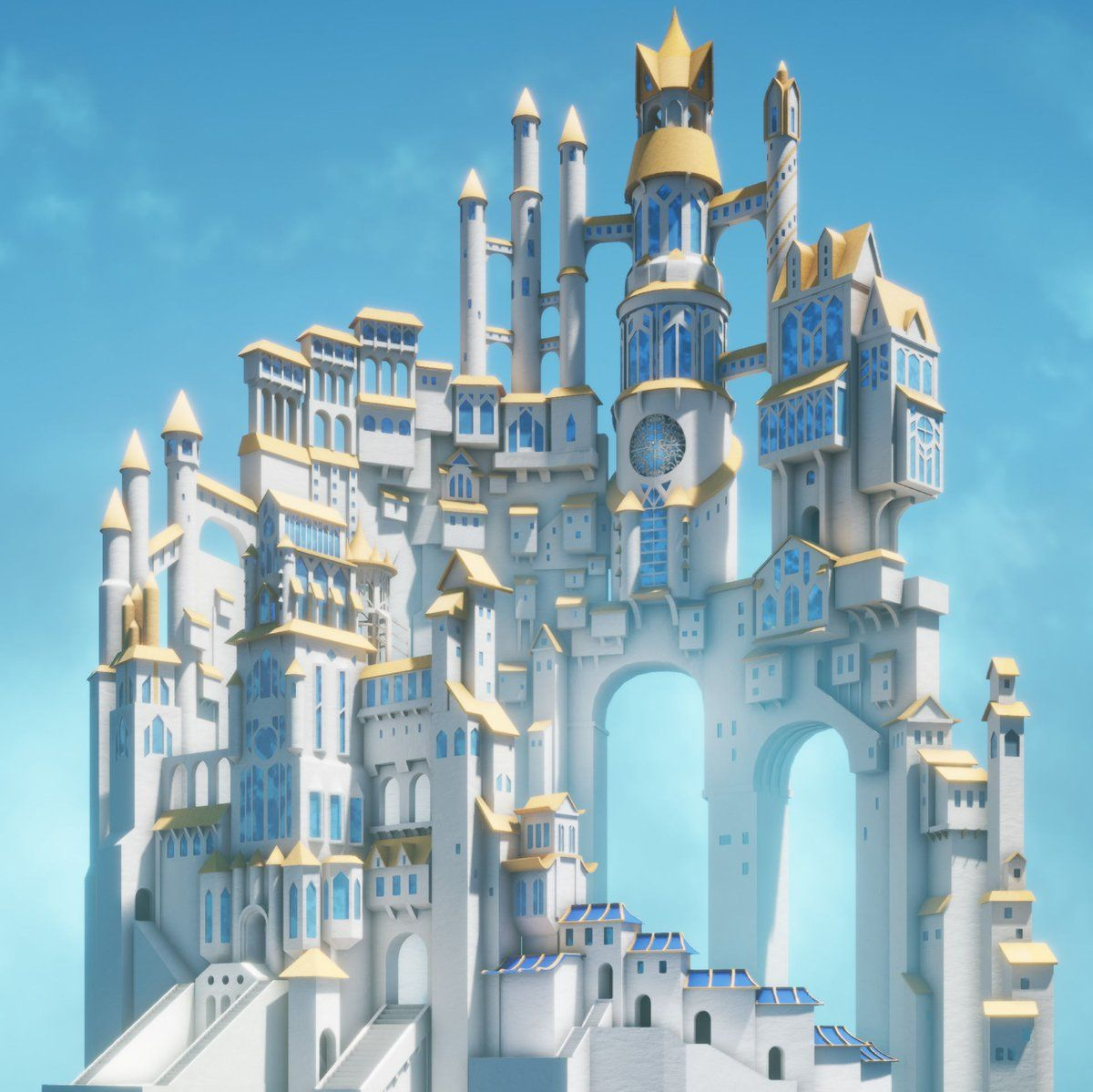 Unreal Engine on Fantasy castle, Castle, Fantasy landscape