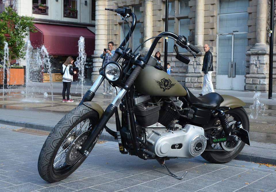 Harley Street Bob Motorcycles Weapons Mecha Style Harley