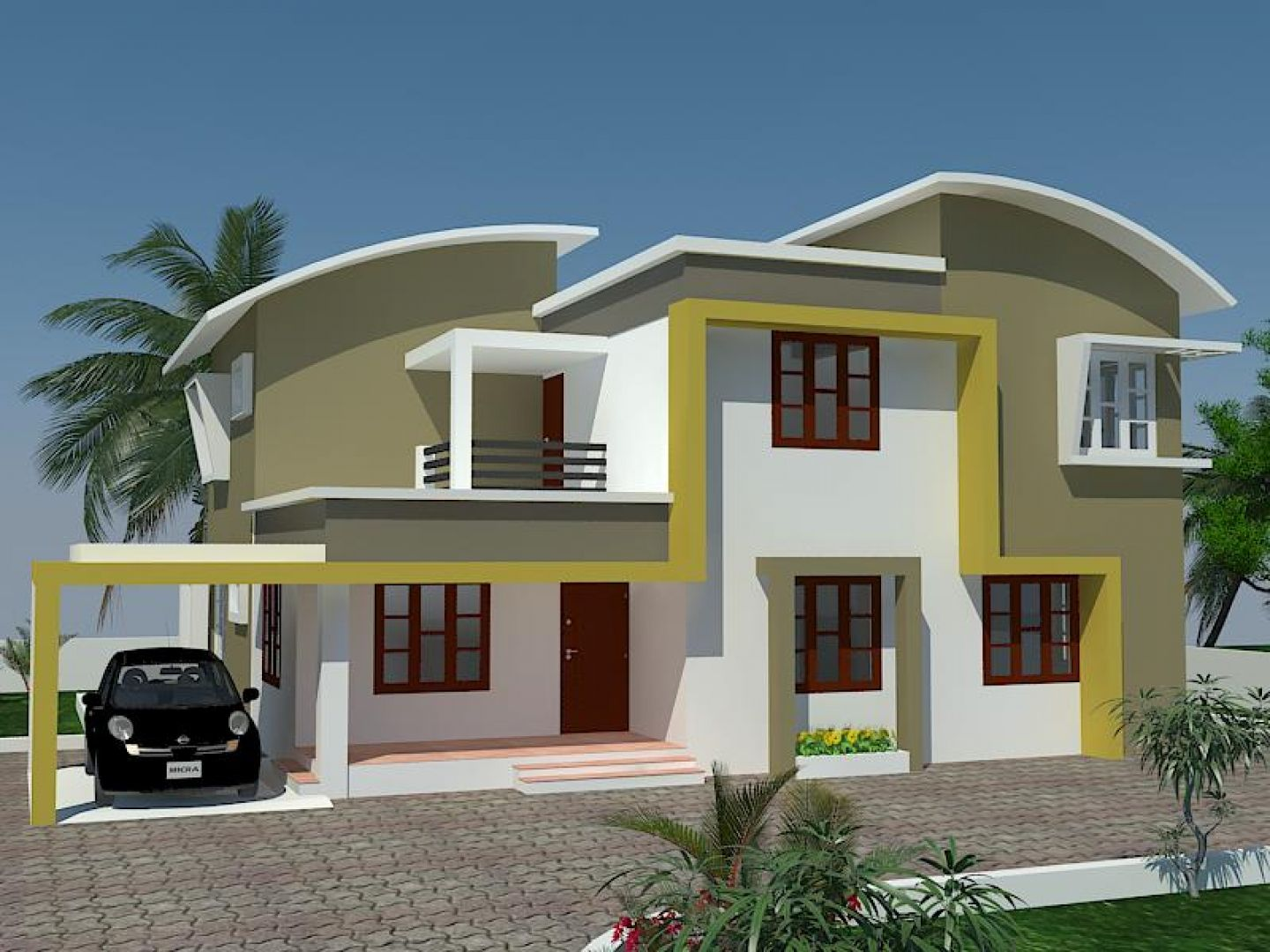 House Awesome Kerala Home Exterior Painting