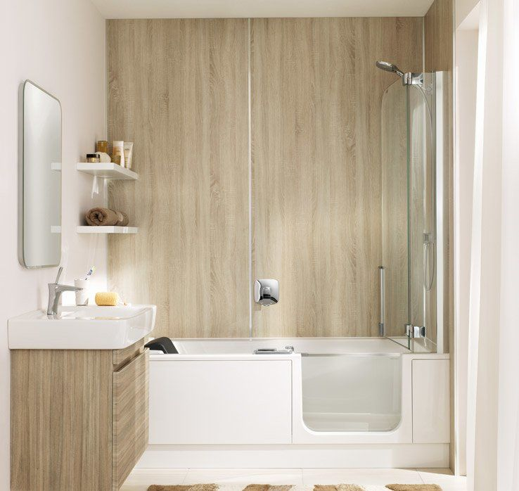 Wall panels by ARTWEGER - New bathroom without ret