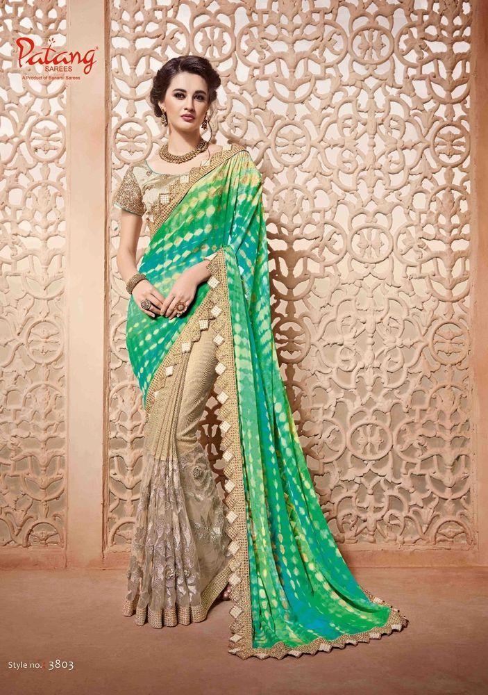 Green Bollywood Designer Saree Indian Pakistani Ethnic Party Wear Wedding Sari