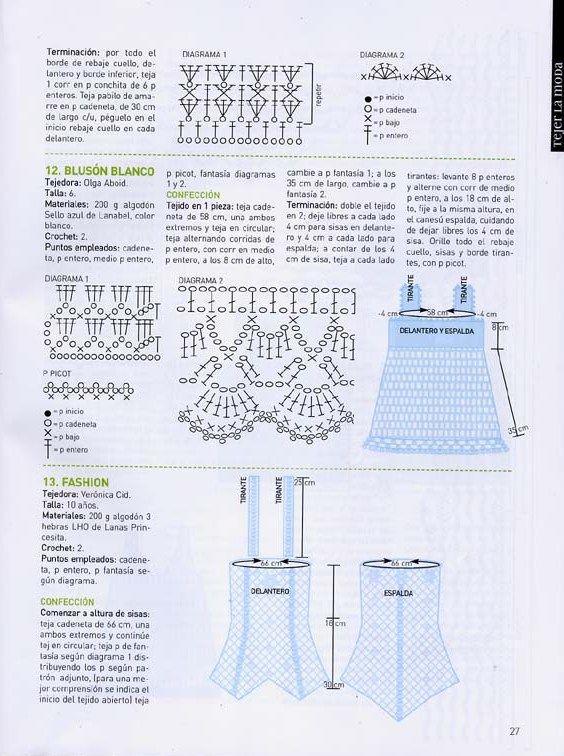 15 modelos de prendas para niñas para tejer al crochet: boleros ...