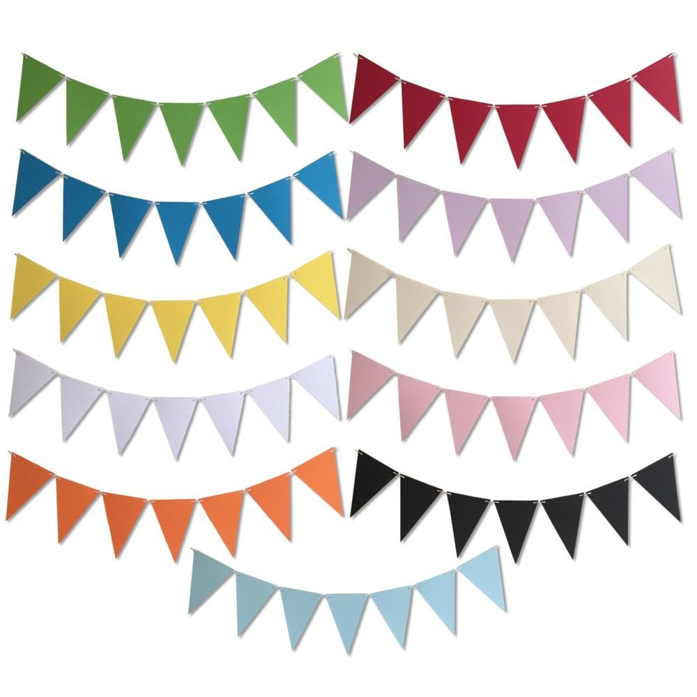 4m 13ft Party Bunting Many Colours Wedding Diy Kids Crafts Banner Garland
