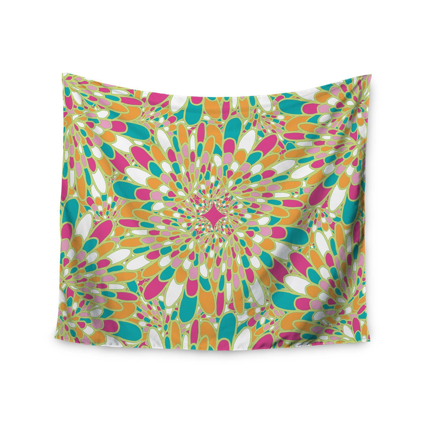 Kess InHouse Miranda Mol 'Flourishing Green' 51x60-inch Wall Tapestry