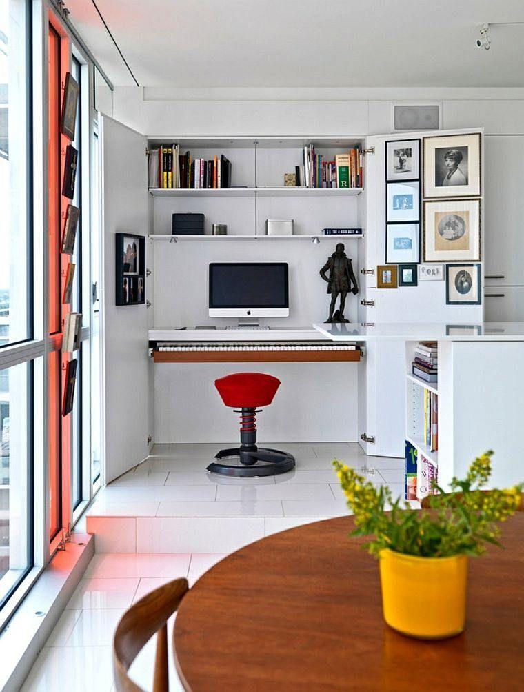 Bureau suspendu de beaux exemples de petits meubles pratiques