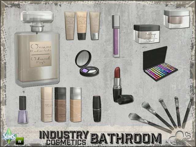 Photo of Sims 4 CC's – The Best: Bathroom Industry – Cosmetics Clutter by BuffSumm